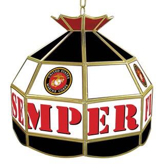 United States Marine Corps 16-inch Tiffany Style Lamp
