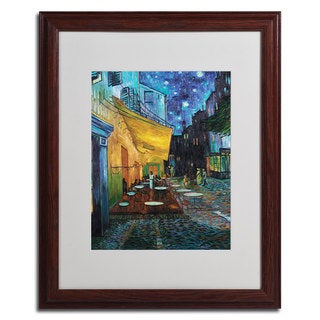 Vincent van Gogh 'Cafe Terrace' Framed Matted Giclee Art