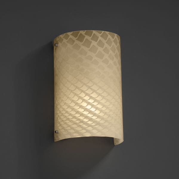 Justice Design Group Finials Curved Brushed Nickel 2 Light