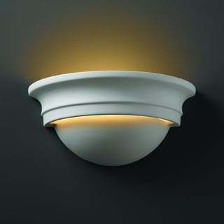 Small Cyma Ceramic Bisque 1-light Wall Sconce