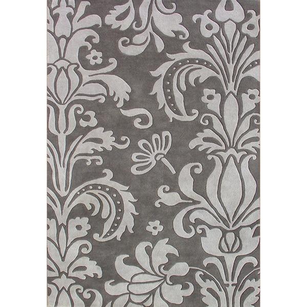 Handmade Sabrina Grey Wool Rug (9' x 12')
