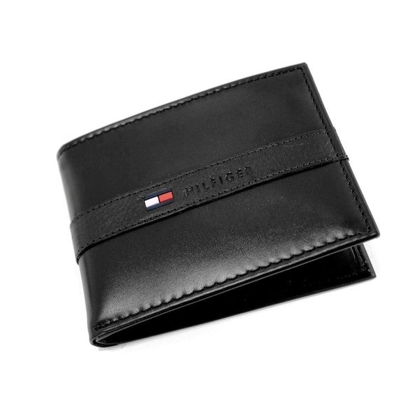 Tommy Hillfiger Men's Bi-fold Leather Wallet and Passcase