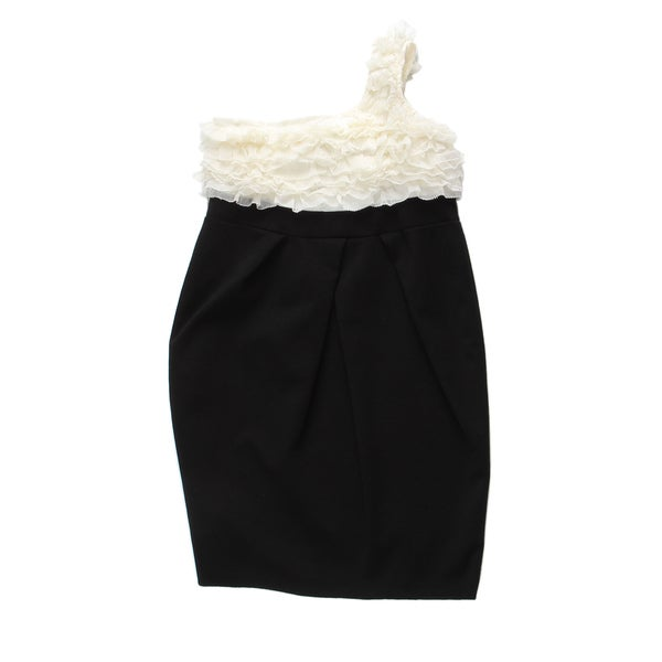 Paulinie Collection Girls' One Shoulder Embelished Dress