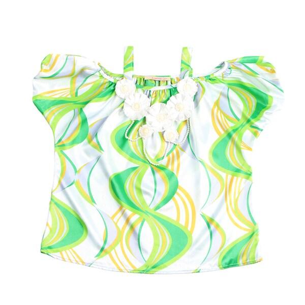 Paulinie Collection Girls' Swirl Print Tunic
