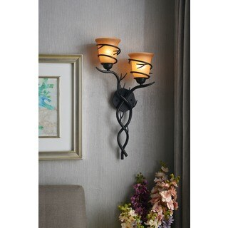 Design Craft Long Branch 2-light Blackened Bronze Wall Sconce  sc 1 st  Overstock.com & Rustic Wall Lights For Less | Overstock.com azcodes.com