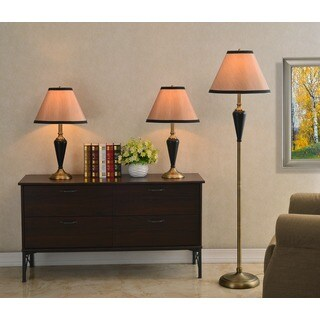 Izaak Bronze 3-piece Lamp Set