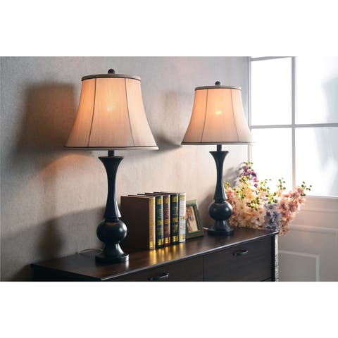 Lennox Black 2-piece Lamp Set