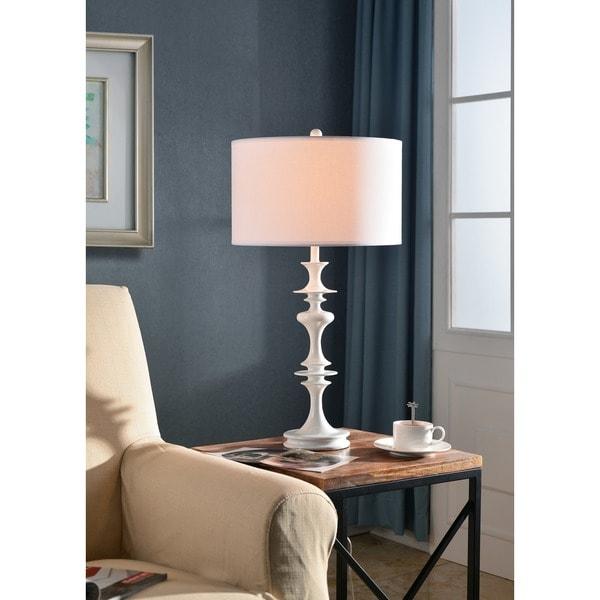 "Design Craft Campeau 28"" Table Lamp - White"