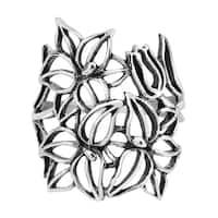 Handmade See Through Wild Flower .925 Sterling Silver Ring (Thailand)