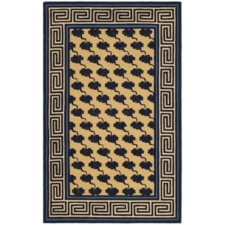 Safavieh Hand-hooked Newport Beige/ Blue Cotton Rug (8'6 x 11'6)