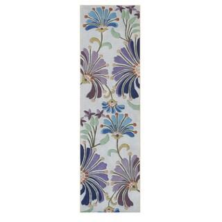 Alliyah Handmade Light Purple New Zealand Blend Wool Rug (2 x 8)