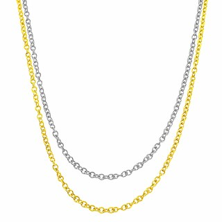 Fremada 14k Gold 0.6-mm Adjustable Cable Chain