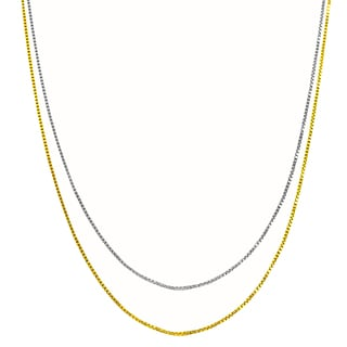 Fremada 14k Gold 0.9-mm Adjustable Box Chain