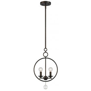Crystorama Cameron Collection 2-light English Bronze Pendant