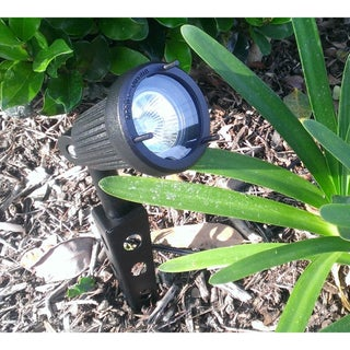 Paradise Black Finish Garen Cast Aluminum 20W Spot Lights (Set of 3)