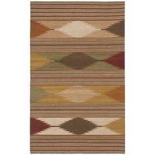 Safavieh Hand-woven Kilim Natural/ Multi Wool Rug (3' x 5')