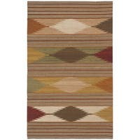 Safavieh Hand-woven Kilim Natural/ Multi Wool Rug - 3' x 5'
