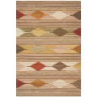 Safavieh Hand-woven Kilim Natural/ Multi Wool Rug - 4' x 6'