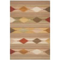 Safavieh Hand-woven Kilim Natural/ Multi Wool Rug - 8' x 10'