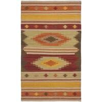 Safavieh Hand-woven Kilim Brown/ Multi Wool Rug - 3' x 5'