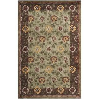 Contemporary Safavieh Handmade Newport Multi Wool Rug (9' x 12')