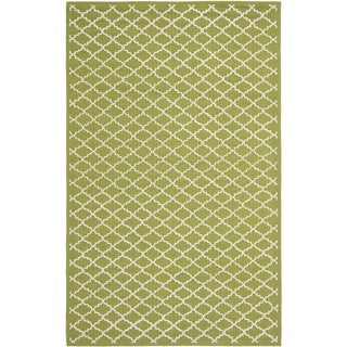 Safavieh Hand-hooked Newport Olive/ Ivory Cotton Rug (5'6 x 8'6)