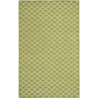 Safavieh Hand-hooked Newport Olive/ Ivory Cotton Rug (7'9 x 9'9)