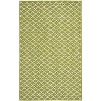 Safavieh Hand-hooked Newport Olive/ Ivory Cotton Rug - 7'9 x 9'9