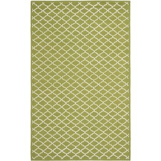 Safavieh Hand-hooked Newport Olive/ Ivory Cotton Rug (8'6 x 11'6)