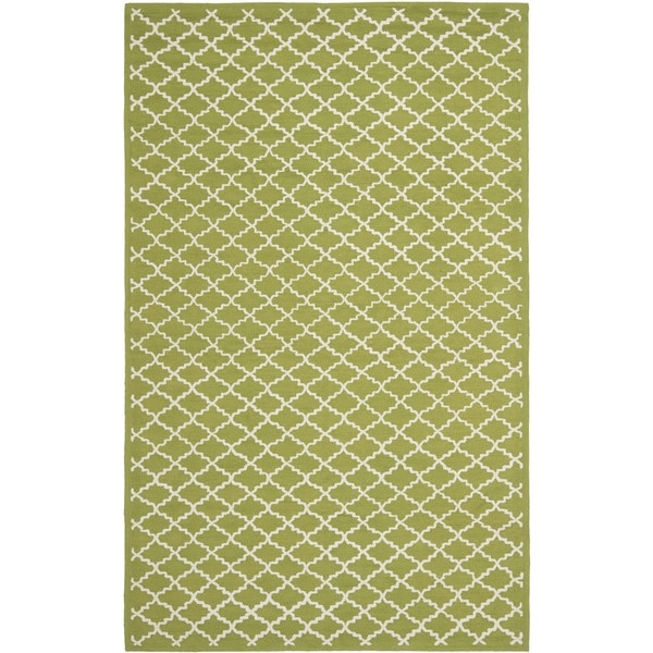 Safavieh Hand-hooked Newport Olive/ Ivory Cotton Rug - 8'6 x 11'6