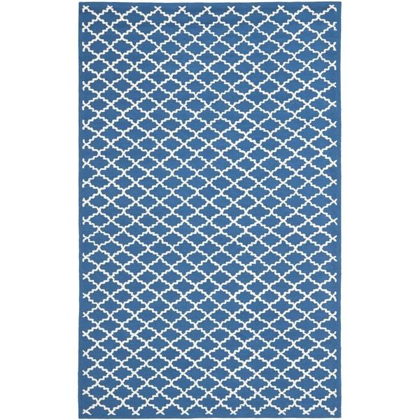 Safavieh Hand-hooked Newport Indigo/ Ivory Cotton Rug - 7'9 x 9'9