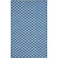 Safavieh Hand-hooked Newport Indigo/ Ivory Cotton Rug - 8'6 x 11'6