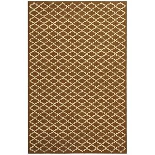 Safavieh Hand-hooked Newport Chocolate/ Ivory Cotton Rug (7'9 x 9'9)