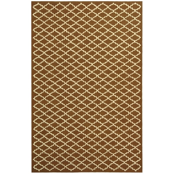 Safavieh Hand-hooked Newport Chocolate/ Ivory Cotton Rug - 8'6 x 11'6