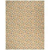 Safavieh Hand-hooked Newport Blue/ Green Cotton Rug - 8'6 x 11'6