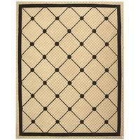 Safavieh Hand-hooked Newport Ivory/ Black Cotton Rug - 8'6 x 11'6