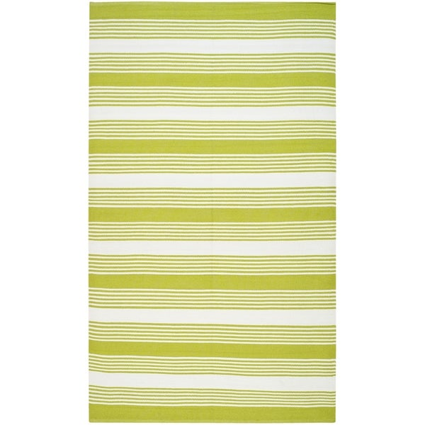 Thom Filicia Hand-woven Indoor/ Outdoor Green Rug - 8' x 10'