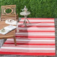 Thom Filicia Hand-woven Indoor/ Outdoor Red Rug - 4' x 6'