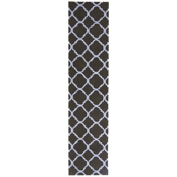 Safavieh Hand-hooked Newport Black/ Blue Cotton Rug (2'3 x 10')