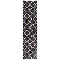 Safavieh Hand-hooked Newport Black/ Blue Cotton Rug - 2'3 x 12'