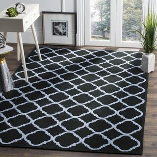 Safavieh Hand-hooked Newport Black/ Blue Cotton Rug (5'6 x 8'6)