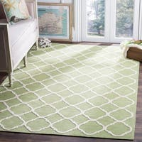 Safavieh Hand-hooked Newport Green/ Ivory Cotton Rug - 8'6 x 11'6