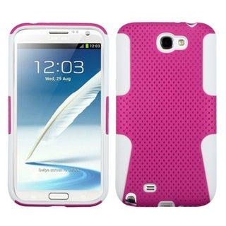 Insten Hot Pink/ White Astronoot Case for Samsung Galaxy Note 2 N7100
