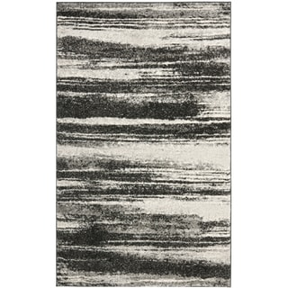 Safavieh Retro Modern Abstract Dark Grey/ Light Grey Rug (2'6 x 4')