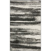 Safavieh Retro Modern Abstract Dark Grey/ Light Grey Distressed Rug - 2'6 x 4'