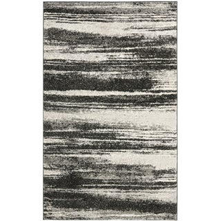 Safavieh Retro Modern Abstract Dark Grey/ Light Grey Distressed Rug (3' x 5')