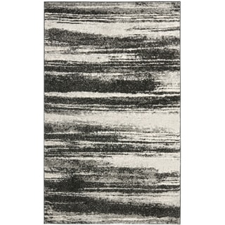 Safavieh Retro Modern Abstract Dark Grey/ Light Grey Rug (3' x 5')