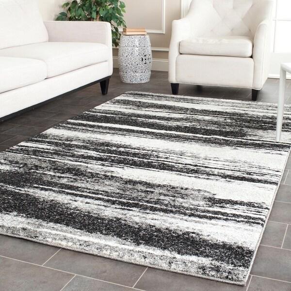 Safavieh Retro Modern Abstract Dark Grey/ Light Grey Distressed Rug - 8'9 x 12'