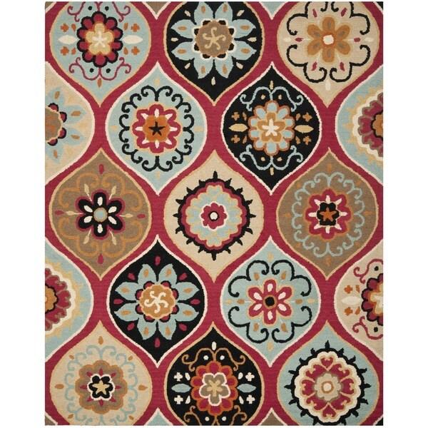 Safavieh Handmade Roslyn Blue/ Multi Wool Rug - 8' x 10'