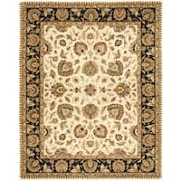 Safavieh Handmade Royalty Beige/ Black Wool Rug - 8' x 10'